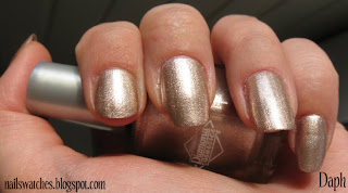 Diamond Cosmetics Party Hearty champagne sand foil nail polish nailswatches