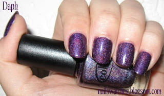 Color club wild at heart purple holographic nail polish nailswatches