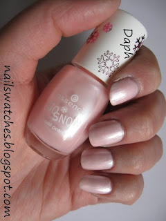 essence go snow snow bunny pink sheer frosty shimmer frost nail polish nailswatches