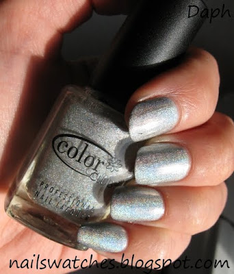 color club worth the risque risk silver holographic wild at heart nail polish collection nailswatches femme fatale