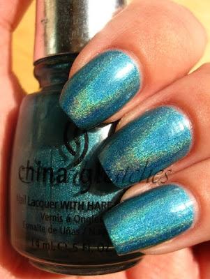 china glaze omg collection holographic holo teal dv8
