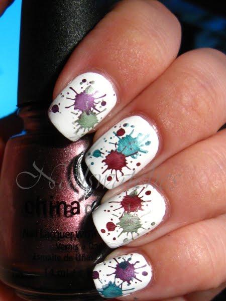 Paint Splatters Everywhere Nail Art Design Gallery