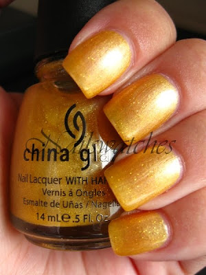 china glaze cowardly lyin' wizard of ooh ahz returns collection 2009 swatch nailswatches