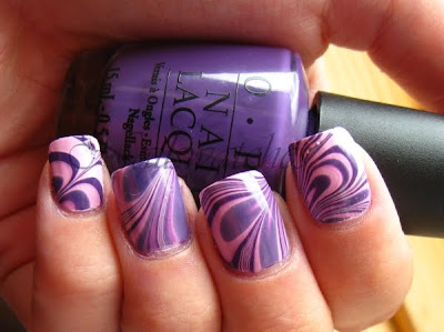 watermarble opi funky dunkey purple orly lollipop creme nailswatches nailart nail polish nailpolish