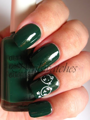 obsessive compulsive cosmetics occ blackboard green creme chalkboard nailswatches nail polish swatch konad konadicure imageplate S10