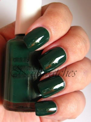 obsessive compulsive cosmetics occ blackboard green creme chalkboard nailswatches nail polish swatch