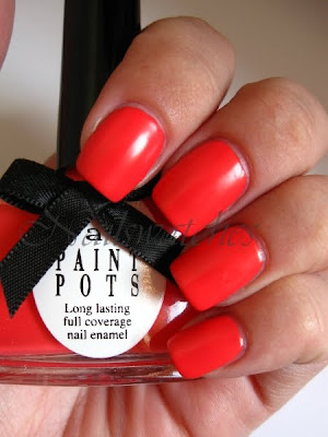ciaté festival fever access all areas summer colletion coral satin creme finish nails swatch review nailswatches
