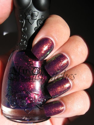 nfu oh 051 51 flakies purple gold burgundy green duochrome nails nailpolish nailswatches flakes base rbl rescue beauty lounge bruised creme