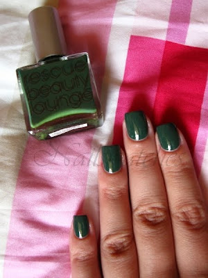 rbl rescue beauty lounge ons orbis non sufficit dusty greyed out green creme blogger collection fall 2009 limited edition the polish addict nail polish nailswatches