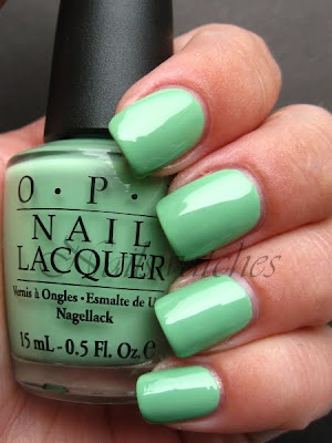 opi damone roberts 1968 dr mint green creme nail polish nailswatches