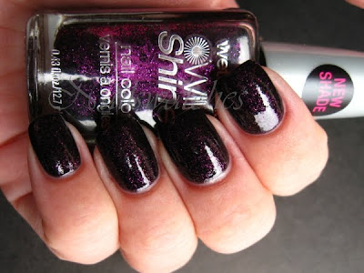 wet n wild wnw night prowl black base magenta purple glitter nail polsih nailswatches