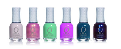 orly precious collection for spring 2011 Pure Porcelain Gilded Coral Fancy Fuchsia Ancient Jade Sapphire Silk Royal Velvet nail polish nailswatches