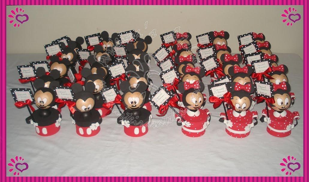 Lembrança de Aniversário do Tema Mickey e Minnie Mouse em EVA