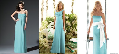 Tiffany Blue Bridesmaid Dresses On With The White Sash For My Bridesmaids Will Be