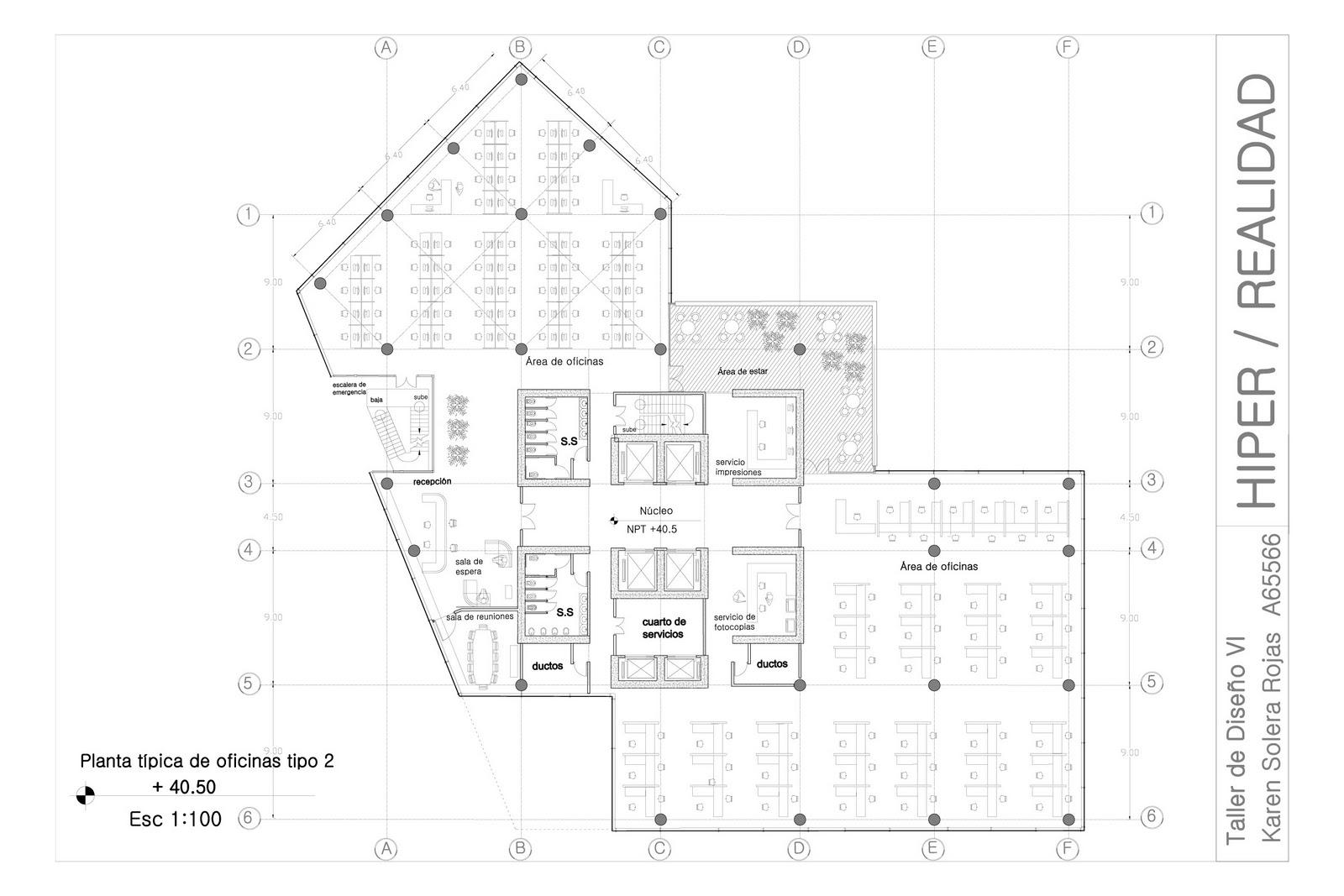 Hiper ficcion hiper realidad for Oficinas planta arquitectonica