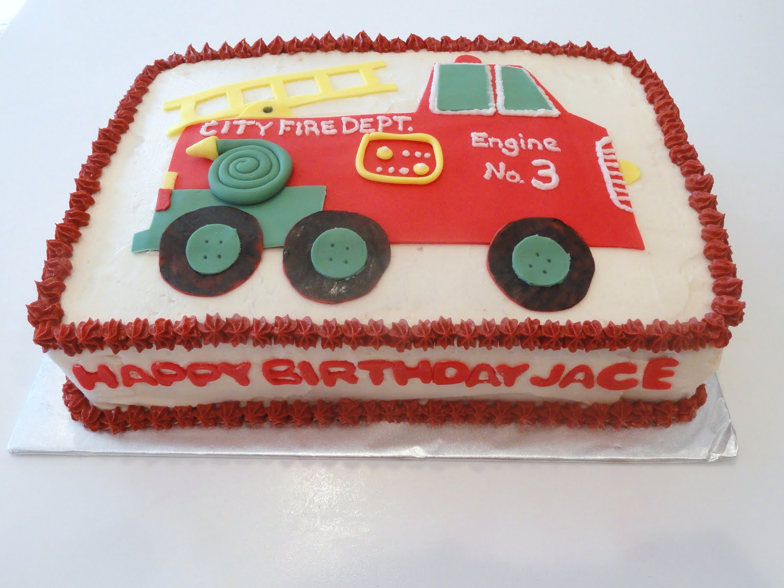 Cakes By Lala Firetruck Birthday Cake