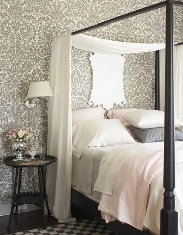балдахин, кровать с балдахином, интерьер спальной комнаты, идеи для спальни
