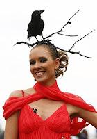 Tocado de ramas con cuervo