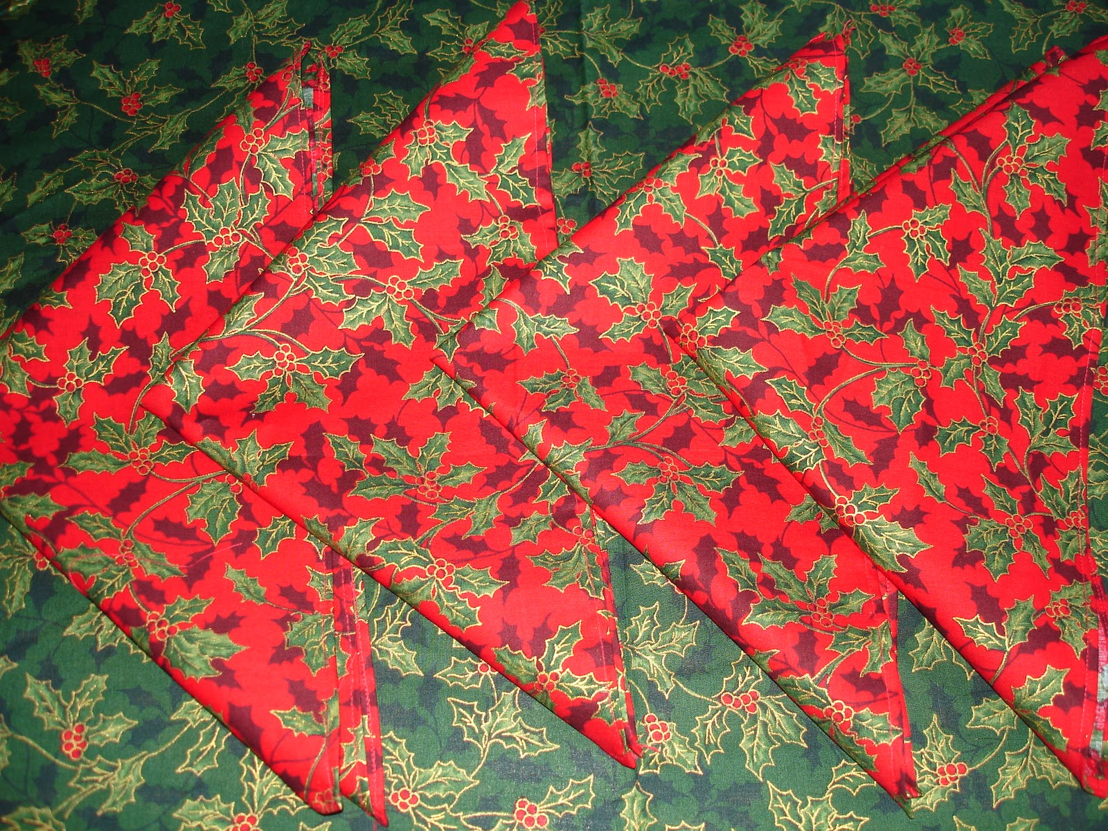 Butterflies and hurricanes christmas tablecloth and napkins for 12 days of christmas table cloth