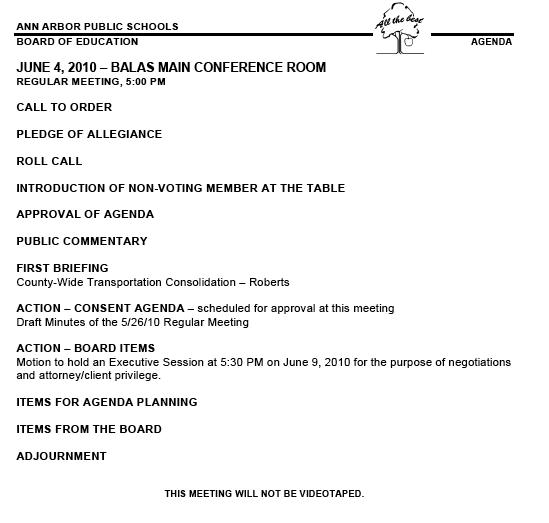 Meeting Agenda Posted  Draft Meeting Agenda