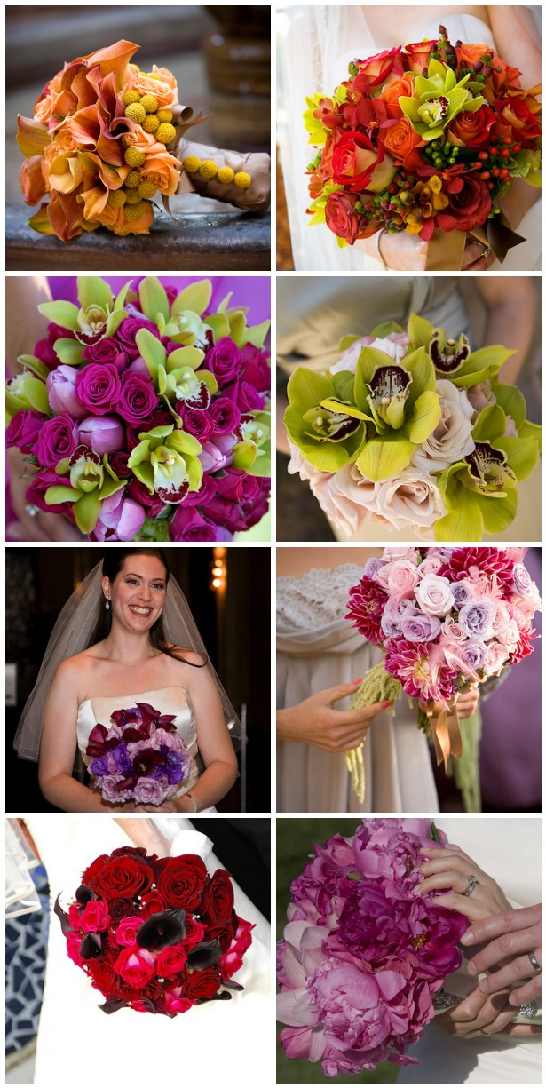 I love color when it comes to wedding flowers