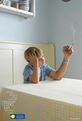 niña fumando, niño fumando