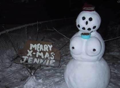 muñecos de nieve cachondos