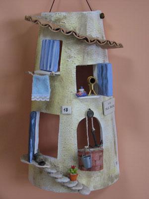 Cannella e melograno tegole decorate decorated tiles - Tegole decorate istruzioni ...