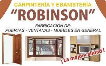 Carpintería y Ebanistería Robinson