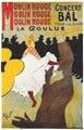 La Goulue en el Moulin Rouge (cartel publicitario, 1891) - Henri de Toulouse-Lautrec (27)