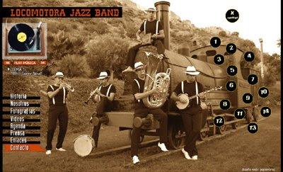 ver web Locomotora Jazz Band