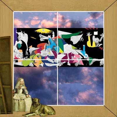collage-fotomontaje creado por pepeworks: hacia Picasso y Velázquez
