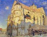 Alfred Sisley - Iglesia de Moret (1893)