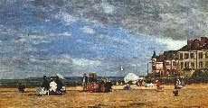 La playa de Trouville (1864) - Eugène Boudin (40)