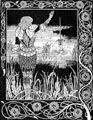 Aubrey Beardsley: ilustración para La muerte de Arturo (de Thomas Malory)