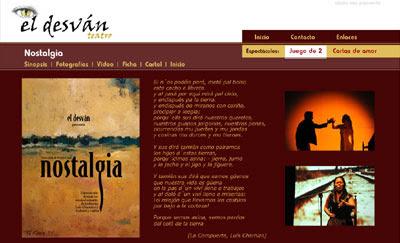 ver web de la compañía teatral El Desván Teatro
