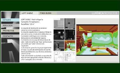 ver web de Lumínica Proyectos: proyectos y asesoramiento de iluminación para arquitectura y espacios urbanos
