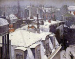 Gustave Caillebotte (30) - Tejados bajo la nieve (pintura de 1878)