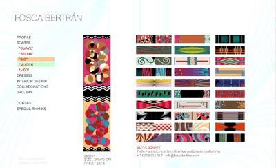 ver web de la diseñadora Fosca Bertrán (diseño de interiores, moda, textiles, objetos...)