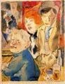 George Grosz (29) - Ganoven en la barra (tinta y acuarela; 1922)