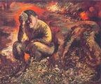 George Grosz (51) - Caín o Hitler en el infierno (1944)