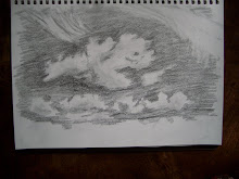 Clouds drawn outside