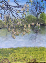 chestnut tree by the pond