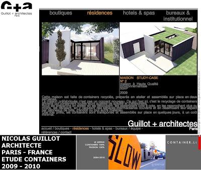 Maison container projet plan construction francais etudes for Maison container france 5