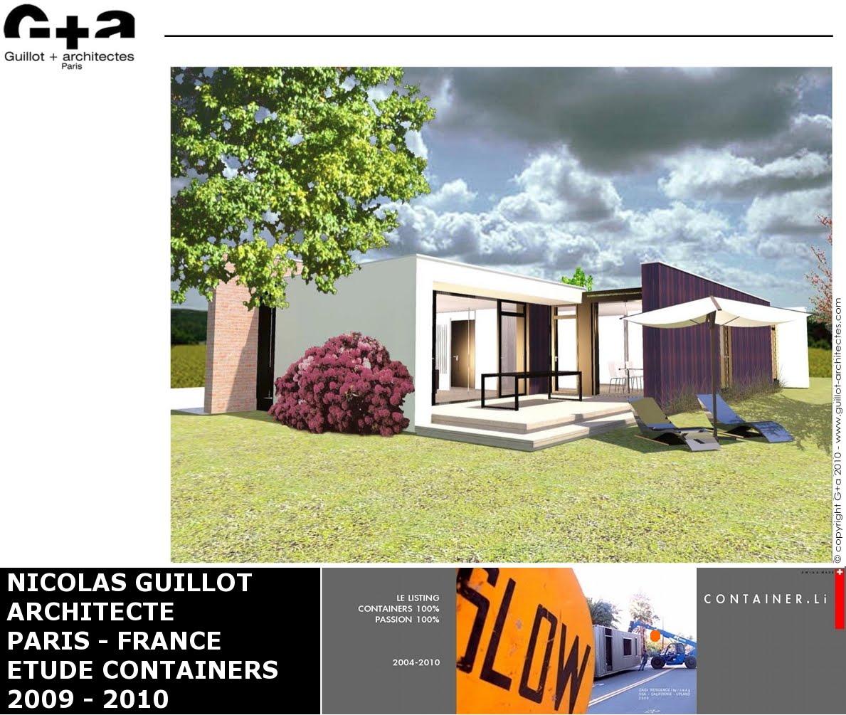Maison container projet plan construction francais etudes for Maison container en martinique