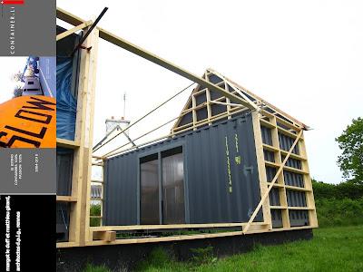 Le duff et girard maison de vacances en containers for Maison 6 container