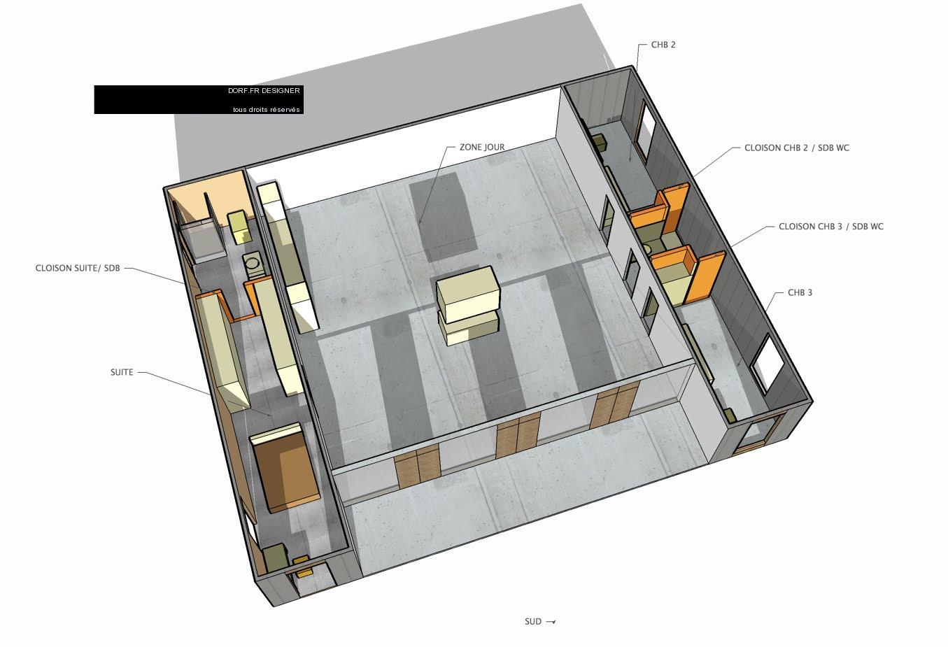 Plan maison sud ouest appartement 64 m apparu2026 for Maison container 64