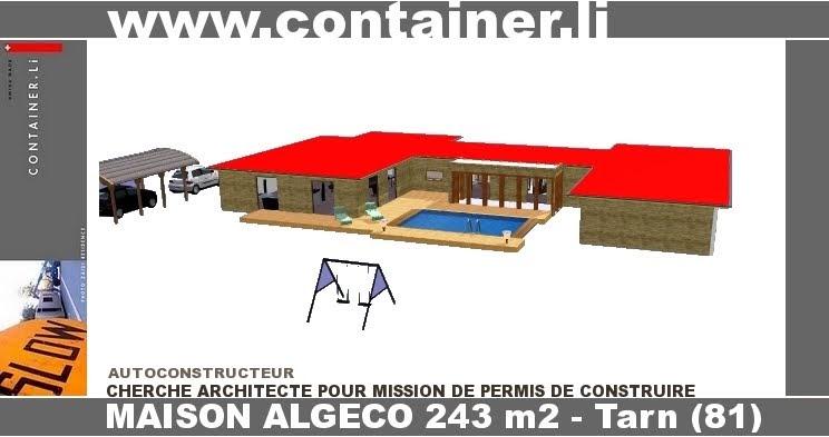 Specialistes containers id 140 maison en algeco for Algeco maison individuelle