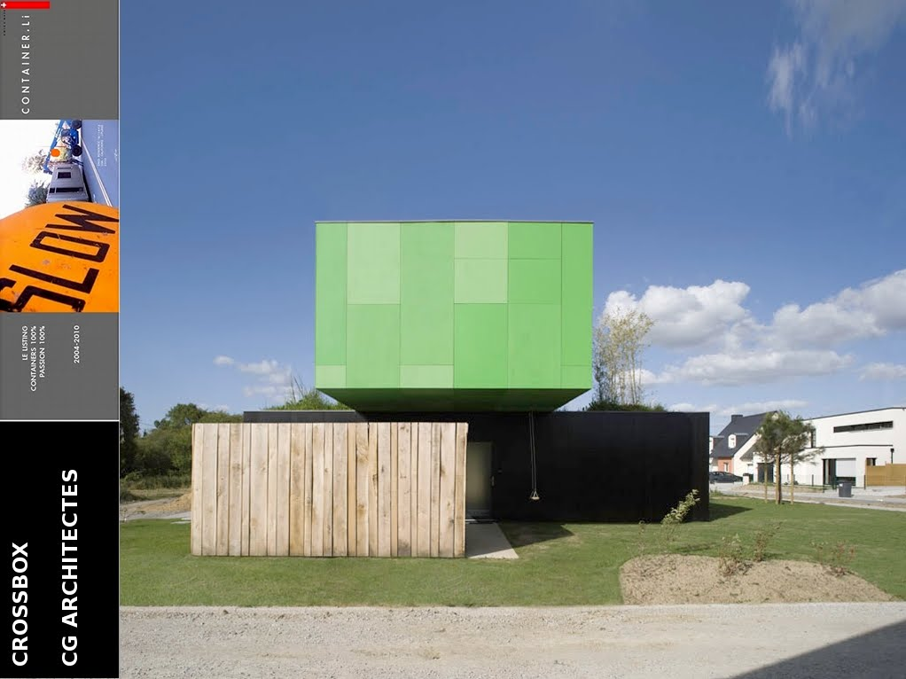 Cg architectes crossbox for Containers habitables