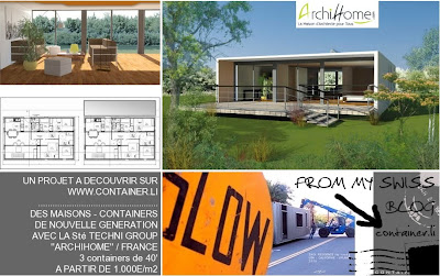 Maison container projet plan construction francais archi for Cout container